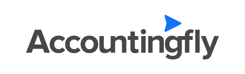 Accountingfly logo linked to a discovery call to help you manage your remote team